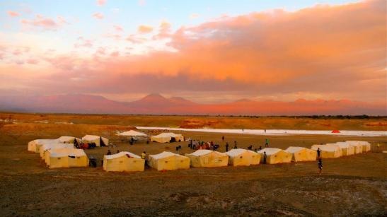 camp 5 sunset