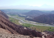 Looking back down on the luscious green valley we just raced through