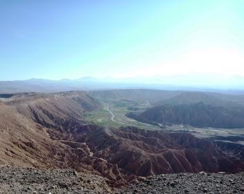 Looking at both the ridge climb and the valley below