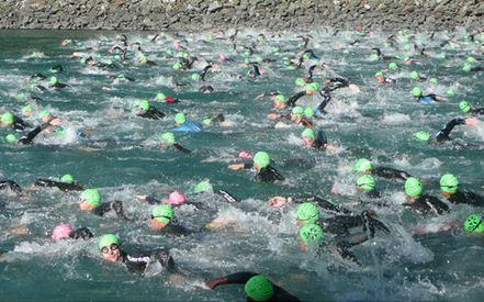 alpe d'huez triathlon swim