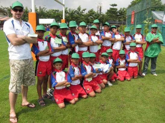 team folded arms